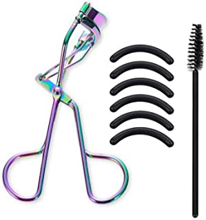 EIAKE Colorful Eyelash Curler Professional Lash Curler Set With Eyebrow Brush & 6PCS Silicone Refill Replacement Pads Fits...