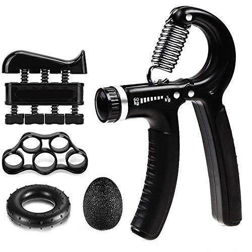 AOMEES Hand Grips Strengthener Exerciser Equipment, 5 Pack Hand Finger Grippers Exerciser Strengtheners