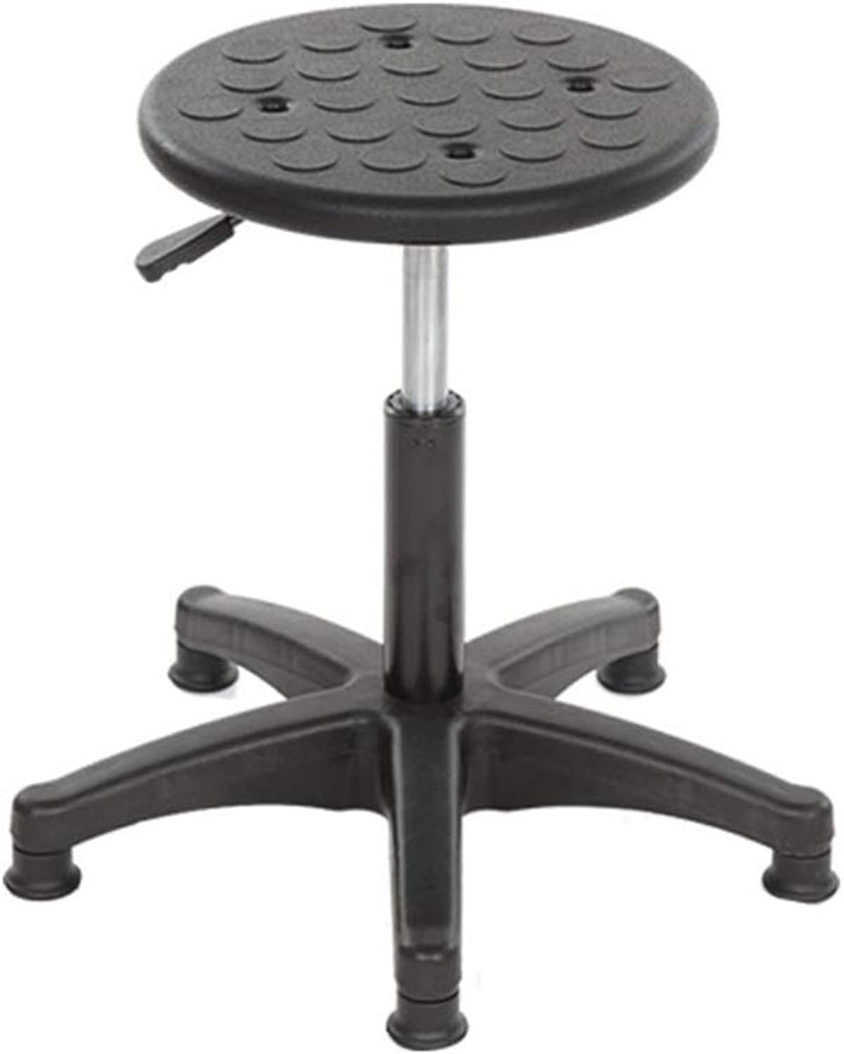 Laboratory Stool, Black Plastic Anti-Static Round Stool Household Stool Office Stool Hospital Stool Reception Chair (color   B)