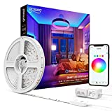 Smart LED Strip Lights 16.4ft Gosund WiFi RGB Tape Light Strips Works with Alexa Google Home, Sync with Music, 5050 Color Changing Lights for Bedroom, TV, Kitchen, Bar, Party