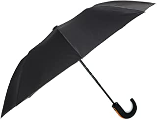 New Technology Auto Open and Close Umbrella - Strong and Durable Windproof Compact Travel Size - Curved Handle
