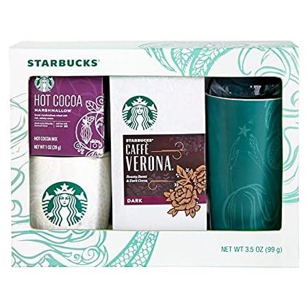 Starbucks Home & Away Stoneware Mug, Hot Cocoa, and Coffee Gift Set, Includes Travel and Ceramic Mug