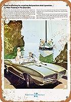 2個 8 x 12 cm メタル サイン - 1968 ポンティアック GTO ザ グレート ワン メタルプレート レトロ アメリカン ブリキ 看板