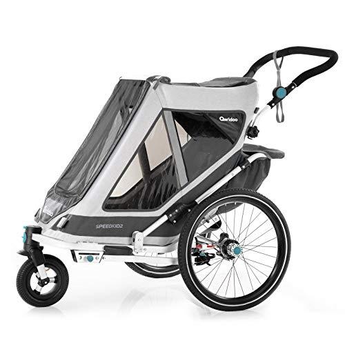 Qeridoo Speedkid2 Kinderfahrradanhänger (2020/2021) - Grau