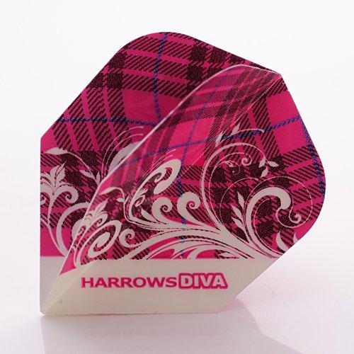 Harrows Diva Dart Flights Tartan, 1 Set = 3 Stück