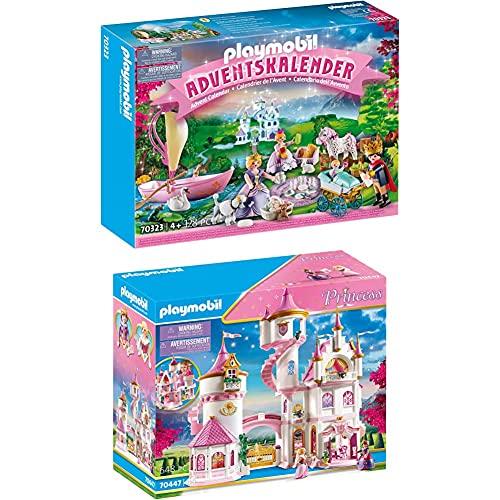 Playmobil Calendrier de l'Avent 'Pique-Nique Royal Multicolore 70323 de 4 Ans + Grand Palais de Princesse