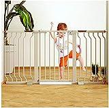 Barrera de Seguridad de Niños para Puertas y Escal De metal ajustable mascotas bebé compuerta de seguridad de puerta de la escalera de cierre automático con la presión del montaje expansible Soportes