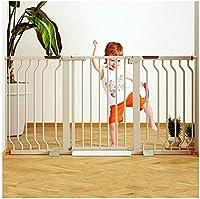 ベビーゲート フェンス ドア付き ガードレールガーデンドア階段フェンス圧力フィット安全メタルゲートは78センチメートル背の高い幅が利用可能な拡張機能で75〜195ペットゲートベビーゲートから選択することができるスタンド (Color : White, Size : 160-167cm)