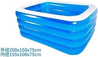 HEROTIGH Piscinas Hinchables De Gran Tamano Parque Acuatico Bebe Hogar Bebe Nino Inflable Grueso Plegable Ecologico Adulto Familiar 2 M 4 Capas Inflatable Pool
