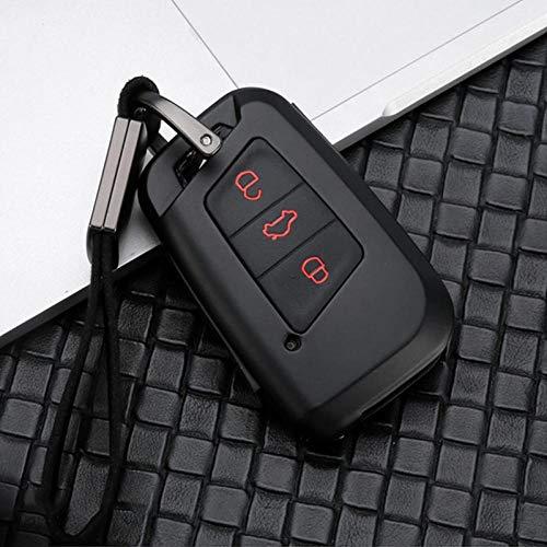 MWBLN Funda para llave de coche, aleación de zinc+silicona para llave de coche, para Skoda Superb A7 para Volkwagen VW Tiguan MK2 Magotan Passat B8 CC Golf Gte Accessorises BlackRed