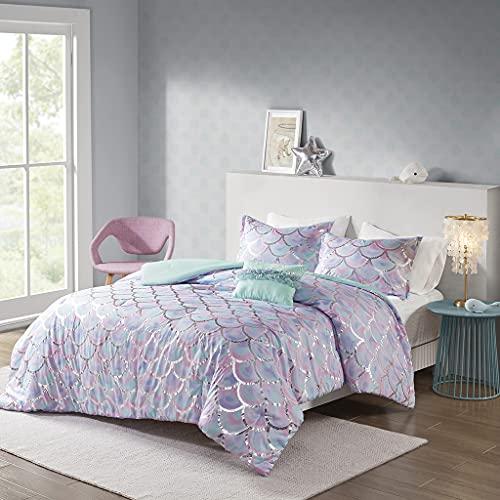 MI ZONE Full Queen Metallic Printed Reversible Comforter Set MZ10-0592