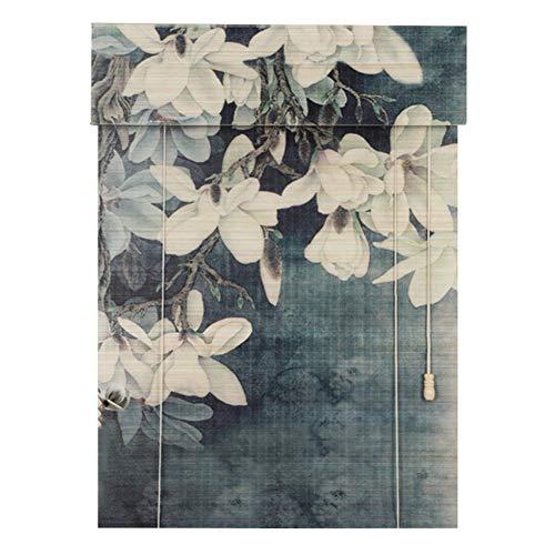 CHAXIA Persiana De Bambú Enrollable Pájaros Y Flores Imprimiendo Bambú Fino Luz De La Cubierta Reservar Habitación Pared De Fondo Cortar 3 Colores, Multi-tamaño, Personalizable