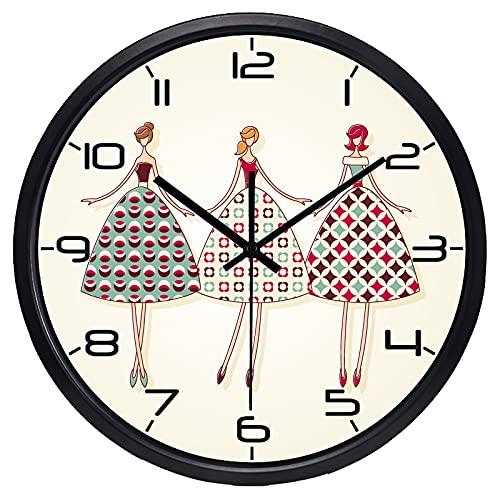 LIMN Reloj de Pared, Reloj de Pared Moderno para Mujer de Dibujos Animados, Reloj de Sala de Estar Breve Creativo | Reloj de habitación | Reloj de Pared