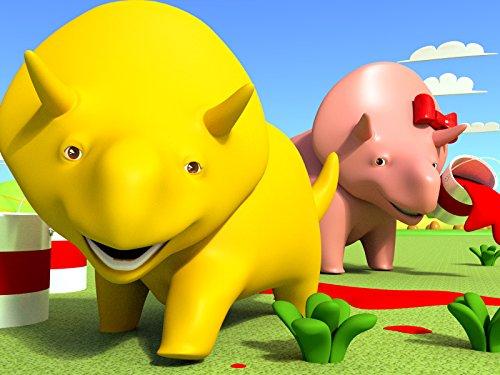 Lerne Tiernamen und Lerne Farben mit Dino dem Dinosaurier : Würfeln / Kindergarten-Rucksack