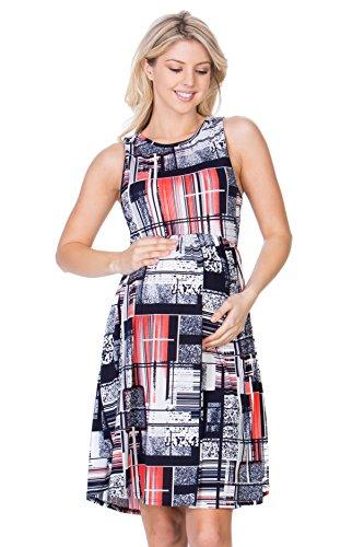My Bump Women's Sleeveless Maternity Knee Length Tank Dress(Made in USA) (X-Large,...