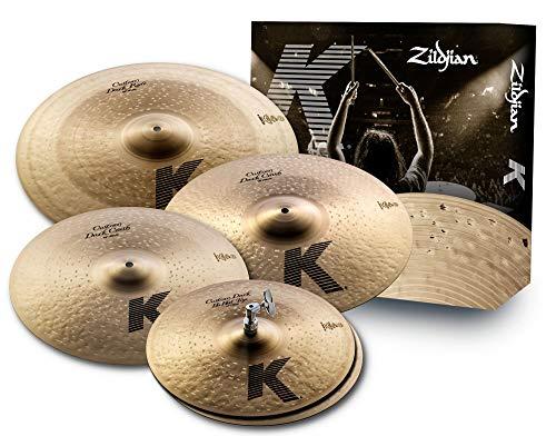 Zildjian KCD900 K Custom Series Dark Cymbal Box Set - 14' Hi-Hats, 16'/18' Crash, 20' Ride, Oscuro