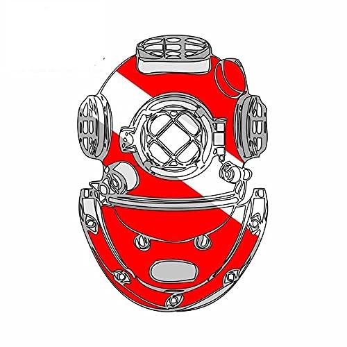 A/X 43 cm 29,1 cm para Casco de Buzo de Buceo Pegatinas de Coche Material de Vinilo calcomanía oclusión