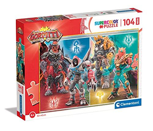 Clementoni Supercolor Gormiti 104 maxi pezzi-Made in Italy, bambini 4 anni, puzzle cartoni animati, Multicolore, 23762