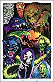 Nightmare Creatures Blacklight Poster - Flocked - 23' x 35'