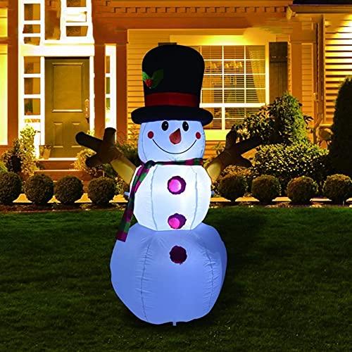 Decoración Navideña Muñeco inflable Navidad 5. 3 PIES Snowman inflable Airblown Decoration Yard Santa Claus ilumina DIRIGIÓ Construido en la red eléctrica de la bomba, decore para la fiesta en el jard