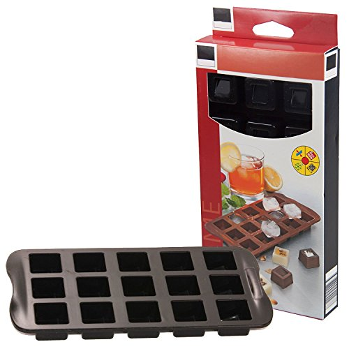 Bada Bing 3er Set EIS- und Schokowürfelformer Silikon Form Eiswürfel Praline Rezeptheft