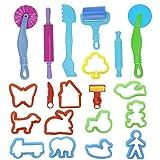 Rapoyo Knetwerkzeug Teig, 20 Stück Plastilin Werkzeuge Vielseitiges Knete Werkzeug Kinder Knete Zubehör Spielzeug Knetwerkzeugset Geschenk Küchenspielzeug