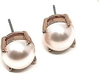 Kate Spade Pearl Stud Blush Rose Gold Tone Earrings, Small