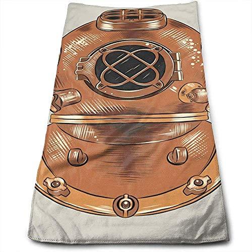 Bert-Collins Towel Casque de plongée Personnalité Plaisir Motif Serviettes de Toilette Fibre Superfine Super Absorbant Serviettes de Gym Douces