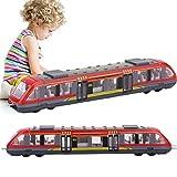ZJchao Simulazione Treno ad Alta velocità Treno in Lega Leggera Modello di Treno automobilistico, Giocattoli educativi per Bambini, Regalo di Compleanno per Bambini (Rosso)