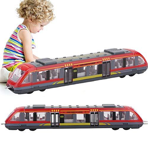 ZJchao Simulación de Tren de Alta Velocidad Modelo de Tren Ligero de Aleación de Tren, Juguetes Educativos para Niños, Regalo de Cumpleaños para Niños (Rojo)