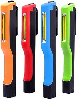 4-Pack COB LED Pocket Work Light - 140 Lumen LED Penlight Flashlight with 180° Twist Magnetic Clip | Batteries Not Included