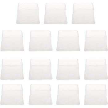 20x20mm dimensione interna ridurre rumore evitare graffi sourcing map PVC trasparente gamba sedia cappucci piedini antiscivolo per coprire mobili pavimento scivolamento protettore 15pz 0,79 x 0,79