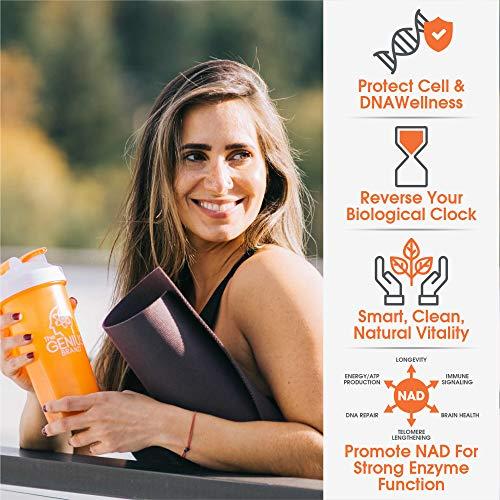 51kWPOj5V+L - NAD NMN Supplement - Nicotinamide Mononucleotide Anti Aging Telomere Capsules | NRF2 NADH Activator Supplements for Women & Men – Stem Cell Support, Longevity and Cellular Energy – 60 Veggie Pills