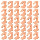 Jubaopen 30pcs Finta Dita per Unghie Finta Dita Modello Flessibile in Plastica per Pratica Manicure Mano Decorazione Nail Art Dita Finta per Ricostruzione Formazione Unghie