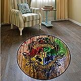 KegamiMisa Alfombra Redonda Magic Key College Floor Felpudo Alfombra Cuadrada Dormitorio Cocina Sala De Estar Alfombra Antideslizante Regalo 160Cm