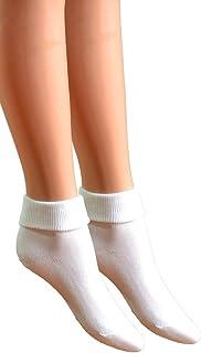 Fontana Calze, 6 paia di calzini da donna senza elastico 100% cotone mod. Sanitario
