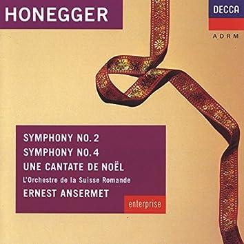 Honegger: Symphonies Nos.2 & 4; Une Cantate de Noel