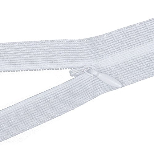 SODIAL 6pcs/Lot Cremallera Invisible CojíN Trasero Falda Nylon Oculto Cremallera para Costura/Accesorios De Ropa Bricolaje (Blanco) Largo 40 Cm Modelo 3#