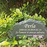 FANN 8,5 (L) x 2,5 (L) x 4,5 (A) Pietra commemorativa per Animali Domestici Personalizzata, marcatore Personalizzato per tombe di Cani, lapidi per Gatti, Ornamenti per Esterni e da Giardino