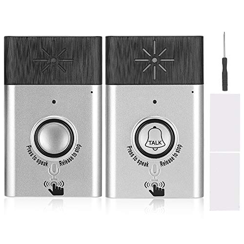 Wireless Door Chime, Wireless Voice 2-Way Intercom Doorbell Access Control System with 300m / 984.3ft Range Adjustable Volume Low Power Consumption Easy Installation for Office Home Store