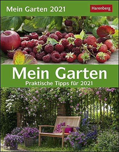 Mein Garten - Kalender 2021 - Harenberg-Verlag - Tagesabreißkalender mit Tipps und Infos für jeden Tag - 13 cm x 15,8 cm