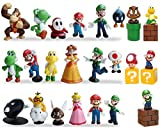 23 pcs Mario Brothers Action Figures Kids Toys Cake Toppers Collection Playset , Mary Princess, Turtle, Mushroom, Orangutan