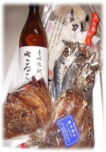 壱岐焼酎と長崎県産 海産物のセット 壱岐