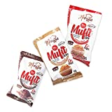Mufit Zero. Muffins proteicas. Saludables y equilibradas. Muffins con un 14% de proteína. Ideales para dietas proteicas. Sabor a chocolate. Estuche con 24 unidades. Sin aceite de palma. (Chocolate)