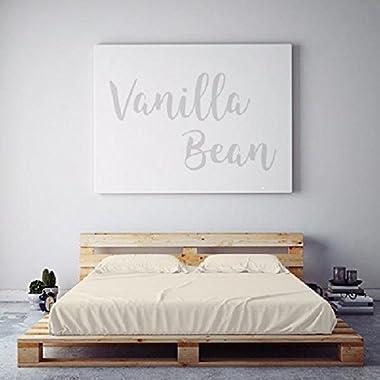 PeachSkinSheets Night Sweats: The Original Moisture Wicking, 1500tc Soft Queen Sheet Set Vanilla Bean