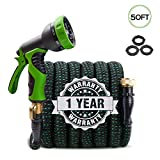Best Coiled Garden Hoses - Upgraded Expandable Garden Hose 50ft Retractable Water Hose Review