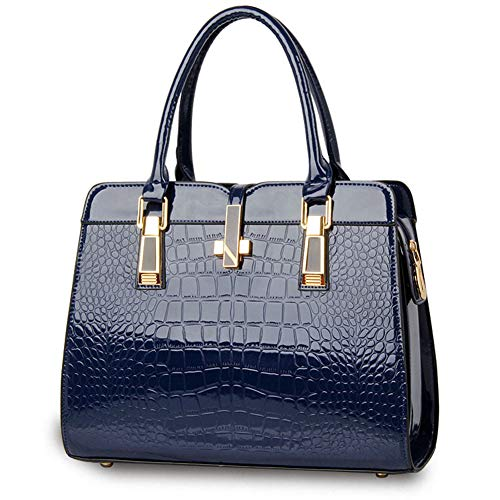 JHVYF Purses and Handbags for Women Fashion Ladies PU Leather Top Handle Shoulder Tote Bags Navy