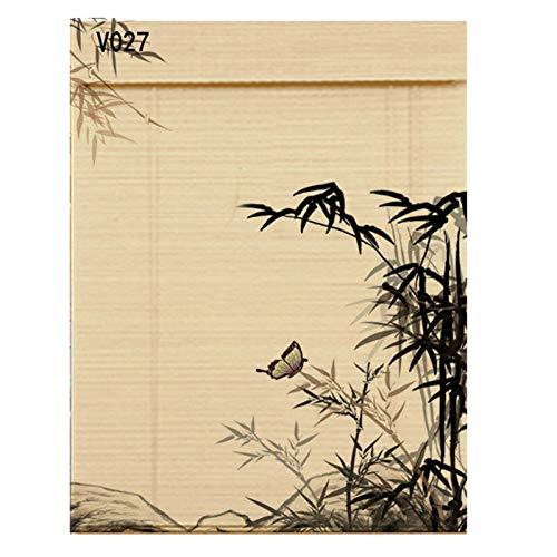 YILANJUN Estores Ventana,Persiana de Bambú,Cortina Puertas y Ventanas,Persianas Enrollables Interiores,Personalizables