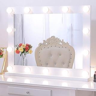 Wellmet Hollywood - Espejo de tocador con luces, color