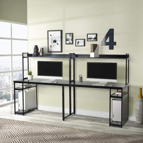 Home Office Double Workstation Desk Max 55% OFF Person Computer wi Atlanta Mall Two